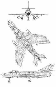 Dassault Super Mystere B2 - Blueprint Poster