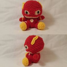 littleheroloops:: Finished The Flash he's up on my etsy shop  #theflash #flash #barryallen #dc #amigurumi #crochet