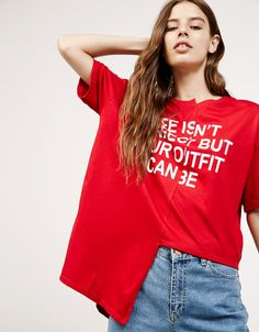 Asymmetric text top. Discover this and many more items in Bershka with new…