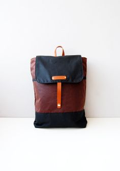 Waxed canvas backpack rucksack daypack  choose your by ForestBags, $130.00