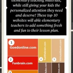 20 Best Websites Elementary Teacher Should Know | Visual.ly