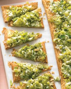 Martha Stewart, Leek Tart. You may want to add a mix of herbs to this recipe.