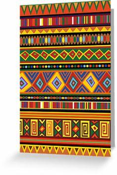 Ethnic Colorful Pattern Africa Art by BluedarkArt