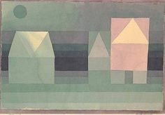 Paul Klee, Three Houses, 1922
