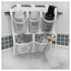 Cruise Shower Caddy (For Any Cruise Line,Travel,RV) -- uses velcro straps or suction cups that really grip the shower wall -- perfect for those tiny cruise ship showers