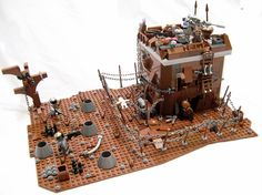 Doesn't everybody love ApocaLego? Titanic Model, Ruined City, Brick In The Wall, Lego Craft, Cool Lego Creations, Lego Design, Fantasy Places, Lego Bionicle, Lego Projects