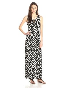 Downtown Grid Printed Maxi Dress by French Connection