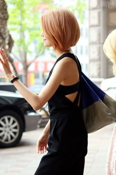 SNSD - Choi SooYoung 최수영 commute 150721 #수영 #셩이 #소녀시대 #출근길 #단발머리