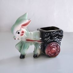 Donkey Planter Vintage by VoilaVintageMarket on Etsy, $12.00