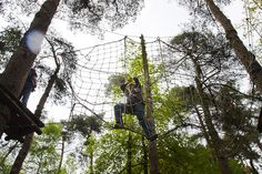 High Rope Parcours in het Lutterzand