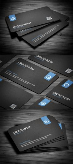 Stylish Corporate Business Card Black Business Card