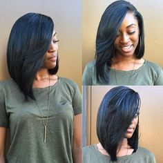 http://www.shorthaircutsforblackwomen.com/dafni-brush-that-straightens-hair-works-too-expensive/ Long natural hair bob - straightened hair. teamblackhurromg