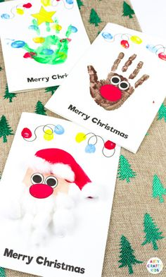 Make adorable Handprint Christmas cards with the kids this festive season. A fun and easy Christmas craft to try with printable Christmas Card templates. Kids Crafts, Preschool Christmas Crafts, Christmas Arts And Crafts, Winter Crafts For Kids, Handprint Christmas Art, Kids Christmas Art, Christmas Card Ideas With Kids, Easy Christmas Crafts For Toddlers, Christmas Projects For Kids