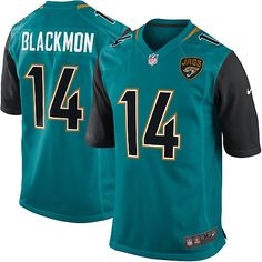 Nike Limited Justin Blackmon Teal Green Youth Jersey - Jacksonville Jaguars #14 NFL Home