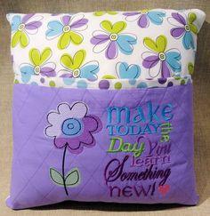Reading Pillow - Teen - Tween - Girl - Woman - Embroidered Pocket Pillow -Travel Pillow - Storybook Pillow - Bed Pillow - Made to Order Pillow Embroidery, Machine Embroidery Applique, Embroidered Pillows, Bohemian Bedding, Rustic Bedding, Bedding Decor, Bedding Sets, Book Pillow, Reading Pillow
