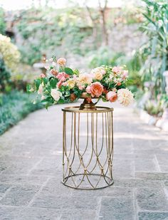 Tropical Garden Wedding Inspiration on Style Me Pretty. Event and Floral Design: The Southern Table Floral Centerpieces, Wedding Centerpieces, Wedding Bouquets, Wedding Decorations, Centrepieces, Wedding Outfits, Wedding Dress, Wedding Arrangements, Wedding Table Settings