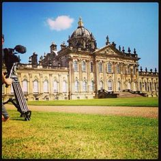 Filming at Castle Howard Yorkshire  #statelyhome #castle #yorkshire #castlehoward