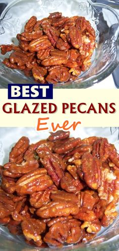 These stovetop Candied Pecans are a quick and easy way to make sweet glazed pecans for salads, snacking, food gifts, and more! Whether you eat these pecans on their own or add them to a varie Glazed Nuts Recipe, Candied Pecans Recipe, Pecan Recipes, Cooking Recipes, Waffle Recipes, My Favorite Food, Favorite Recipes, Skinny Recipes, Side Dishes