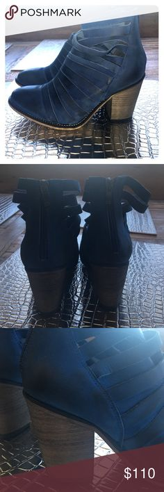Free People Hybrid Boot Bright Blue Beautiful color and style! Free People Shoes Ankle Boots & Booties