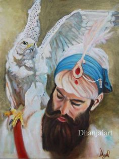 Beautiful Painting of Sahib-E-Kamaal Shri Guru Gobind Singh Ji! Guru Granth Sahib Quotes, Shri Guru Granth Sahib, Guru Nanak Pics, Guru Hargobind, Baba Deep Singh Ji, Guru Nanak Wallpaper, Sikhism Religion, Happy Independence Day India, Nanak Dev Ji