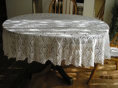 Pineapple Oval Tablecloth New Large/ White / Newly by evyslace, $350.00