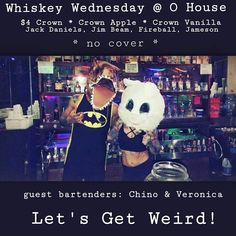Wild Whiskey Wednesday  Come and party with Chino & Veronica! See you TONIGHT  #wednesday #bartender #whiskey #drink #bar #nightclub #live #jacksonville #jacksonvillenc #party