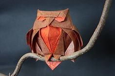Be fun to try a really large one of these great origami owls http://www.how-to-origami.co.uk/wp-content/uploads/origami%20owl%20diagram.jpg