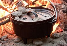 Ten of the best Dutch oven recipes to use while camping. You can cook just about anything on the campfire with the help of a Dutch oven. Dutch Oven Chicken, Dutch Oven Bread, Cast Iron Dutch Oven, Dutch Oven Recipes, Bread Recipes, Fire Cooking, Cast Iron Cooking, Oven Cooking, Outdoor Cooking