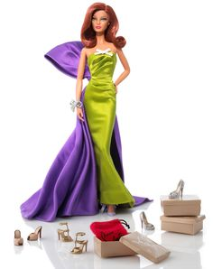 BARBIE AND LUXURY SHOE DESIGNER CHRISTIAN LOUBOUTIN CONTINUE THEIR AMAZING COLLABORATION BY RELEASING THEIR NEWEST CREATION, THE THIRD IN A SERIES OF COLLECTIBLE LIMITED EDITION DOLLS, ANEMONE BARBIE, FRESH FROM WALKING THE RED CARPET A FILM PREMIERE AT THE CANNES FILM FESTIVAL.