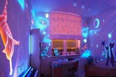 pinterest little girls rooms | This glow in the dark little girl's room from The Paint Princess ...