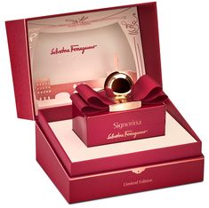 Salvatore Ferragamo has prepared a special holiday edition for their loyal and new customers. To celebrate the Holiday season, Salvatore Ferragamo presents Signorina in Rosso Limited Edition. A shiny new look for the romantic fragrance in an extraordinary fabulous flacon, dressed up with the magnetic and signature red Ferragamo color. For the Holiday season the Signorina bottle wears a unique shiny red dress, that enhances its exclusivity an