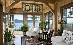 This small cottage offers stunning views of the Puget Sound.
