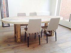 Ovale tafel van steigerhout - Tafels - Eetkamer, 500