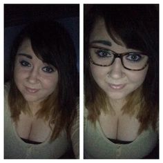 With and without glasses!