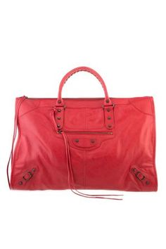Balenciaga_Classic Weekender (Rouge Coquelicot)