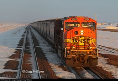 RailPictures.Net Photo: BNSF 9984 BNSF Railway EMD SD70MAC at West of Burnham, Montana by Craig Williams Craig Williams, Paper Train, Via Rail, Bnsf Railway, Railroad Pictures, Train Truck, No Mans Land, Burlington Northern, Railroad Photography
