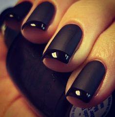 Black matte mani.