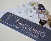 pantone book style wedding invitation