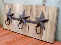 Reclaimed Wood Pallet Star Coat Rack by RusticWoodOriginals, $65.00
