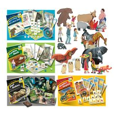 Games and language activity using four popular story books and character sets
