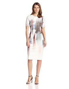 Elie Tahari Women's Carla Dress Marble Print Short Sleeve Sheath, Multi, 0 ELIE TAHARI http://www.amazon.com/dp/B00OIZK4Q8/ref=cm_sw_r_pi_dp_SScOub183HEXA