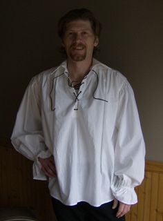 Mens Renaissance Medieval Gothic Pirate Poet Shirt | thewitchesspindle - Clothing on ArtFire
