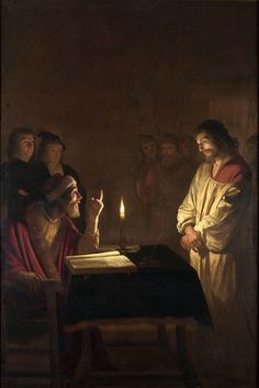 Gerrit van Honthorst: 'Christ before the High Priest' Hanging in the National Gallery, Trafalgar Square. The light in the painting is amazing - needs to be seen in real life Caravaggio, Catholic Art, Religious Art, Catholic Online, Art Du Temps, Tableaux Vivants, Jesus E Maria, Religion, National Gallery