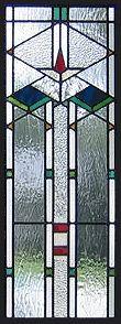 geometric stained glass window - AGlassMenagerie.net