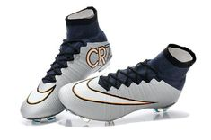 3d4682edf29 Grey CR7 Unisex Original Mercurial Superfly V SX Soccer High Ankle Cristiano  Ronaldo Cleats