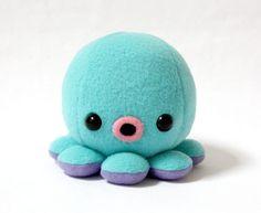 Baby Octopus Plush in Aqua Blue
