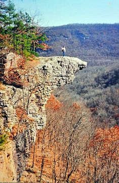 Hawksbill Craig Buffalo National River, Ponca/Boxley Arkansas - been there and it's beautiful.