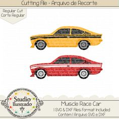 Muscle Race Car.  Muscle, Race, Car, muscle car,  race, race stripes, corrida, carrinhos, vintage, old car, carro antigo, arquivo de recorte, corte regular, regular cut, svg, dxf, png, Studio Ilustrado, Silhouette, cutting file, cutting, cricut, scan n cut.