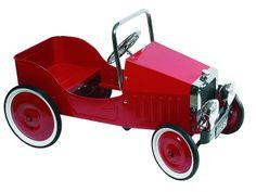 G&K Punainen polkuauto (1938) - Leikkien.fi - Opettavainen lelukauppa