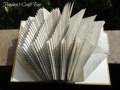 Pandora's Craft Box: Book Page Folding Tutorial